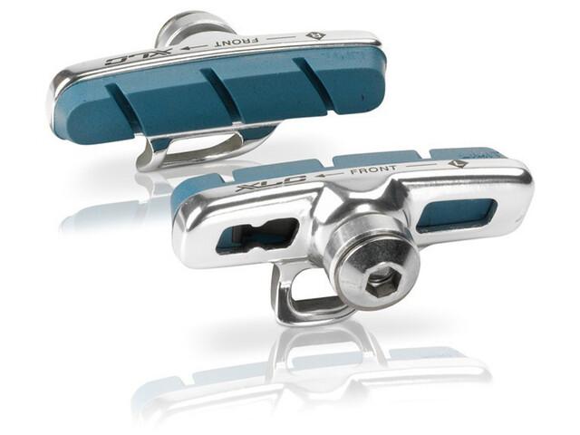 XLC Cartridge Campa Remblok & Remschoen 4-delige set 50mm voor carbon blauw/zilver